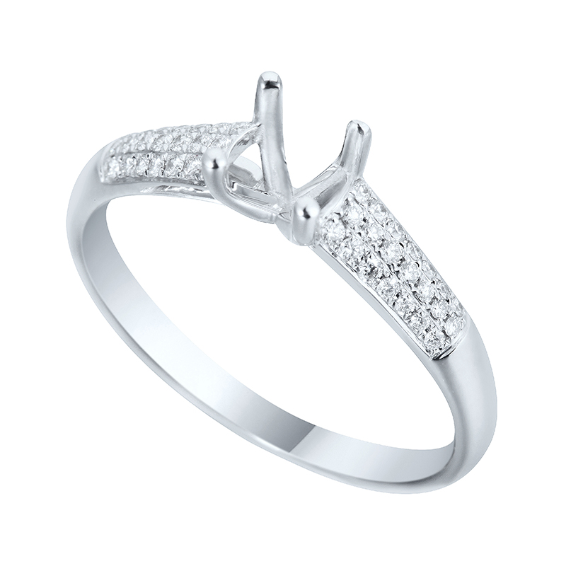 Diamonds And Jewelry Antwerp Ring White Gold 18 Carats 550703