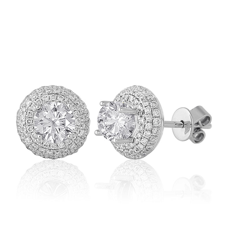 Earrings White Gold 18 Carats